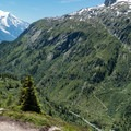 The switchbacks of Stage 10.- Tour Du Mont Blanc: Stages 9, 10 + 11