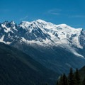 Full Mont Blanc with Aiguille du Midi to the left.- Tour Du Mont Blanc: Stages 9, 10 + 11