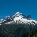 Aiguille Verte from Tre le Champ.- Tour Du Mont Blanc: Stages 9, 10 + 11