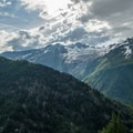 Dramatic clouds above Col de Balme.- Tour Du Mont Blanc: Stages 9, 10 + 11
