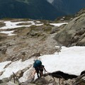 Ladders are needed to get to Lac Blanc.- Tour Du Mont Blanc: Stages 9, 10 + 11