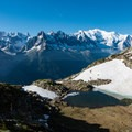 Mountain ponds along the trail.- Tour Du Mont Blanc: Stages 9, 10 + 11