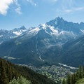 Aiguille Verte over Chamonix.- Tour Du Mont Blanc: Stages 9, 10 + 11