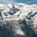 Close-up over the glaciers tumbling off of Mont Blanc.- Tour Du Mont Blanc: Stages 9, 10 + 11