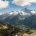 Looking down from Col du Brevent.- Tour Du Mont Blanc: Stages 9, 10 + 11