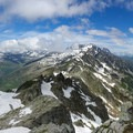 View along the Aiguilles Rouges range.- Tour Du Mont Blanc: Stages 9, 10 + 11