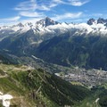 Panoramic views of Chamonix from Le Brevent.- Tour Du Mont Blanc: Stages 9, 10 + 11