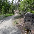 Entering the Fitzpatrick Wilderness.- Lake Louise Trail