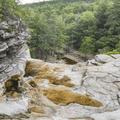 The cliff edge forms Awosting Falls.- Minnewaska State Park Preserve