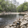 Photographing Awosting Falls.- Minnewaska State Park Preserve