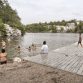 Swimming in Lake Minnewaska.- Minnewaska State Park Preserve