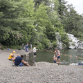A designated swimming area and lifeguard supervision.- Minnewaska State Park Preserve