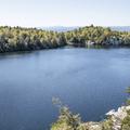 Overlooking Lake Minnewaska.- Minnewaska State Park Preserve