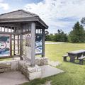 An information kiosk by the parking area.- Minnewaska State Park Preserve