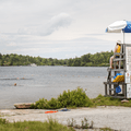 Designated swimming area and lifeguards on duty.- Minnewaska State Park Preserve