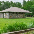 Restroom and showers located in the northern loop.- Quechee State Park Campground