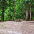 Typical campsite.- Quechee State Park Campground