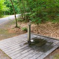 One of several locations for potable water in the campground.- Quechee State Park Campground