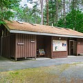 One of two restroom and shower facilities in the campground.- Quechee State Park Campground
