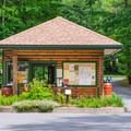 The park office at the entrance. - Quechee State Park Campground