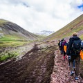 Due to high numbers of tourists, the trails are often very muddy but improvements are being made.- Vinicunca / Rainbow Mountain