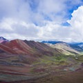 The views get better and better as you climb.- Vinicunca / Rainbow Mountain