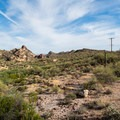 Dry desert scenes near Canyon Lake.- Canyon Lake: Boulder Recreation Site