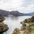 Canyon Lake is a desert oasis.- Canyon Lake: Boulder Recreation Site