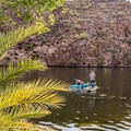 Kayaking and paddleboarding are allowed on the lake.- Canyon Lake: Boulder Recreation Site