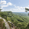 Looking north over the Mohonk Preserve.- Minnewaska State Park Preserve