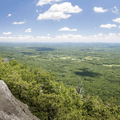 Looking over the Hudson Valley from the eastern ridge.- Minnewaska State Park Preserve