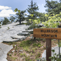 The trail junction at Milbrook Mountain and Gertrude's Nose.- Minnewaska State Park Preserve