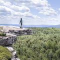 A daring lookout point on Gertrude's Nose.- Minnewaska State Park Preserve