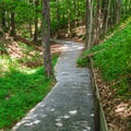 This section of trail is wheelchair accessible.- Quechee State Park