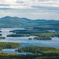Lake Winnipesaukee from Red Hill.- Red Hill Fire Tower via Red Hill + Cabin Trails