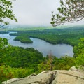 One of the first views as you approach the overlook.- West Rattlesnake Mountain