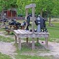Scuba equipment drying in the sun.- Vortex Spring