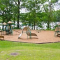 One of two playgrounds at the park.- Lake Taghkanic State Park
