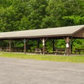 A pavillion is availble for rent for parties.- Lake Taghkanic State Park