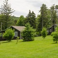 Cabins are available for rent along the lake.- Lake Taghkanic State Park