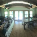 Panorama of a common area in Cabin 4.- Jawbone Flats