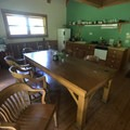 The dining and kitchen area of Cabin 4.- Jawbone Flats