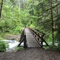 Footbridge over Little North Fork Santiam River.- Jawbone Flats