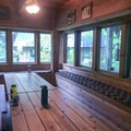 Dining area of the main lodge.- Jawbone Flats