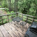 Deck of Cabin 1 with a constant dull roar of Battle Ax Falls nearby.- Jawbone Flats