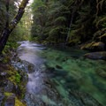 Opal Creek drains into Opal Pool.- Jawbone Flats