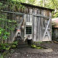 The Pelton Shed, a hydroelectric generator that powers all of Jawbone Flats.- Jawbone Flats