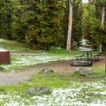 Indian Creek doesn't open until mid-June.- Indian Creek Campground