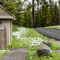 Paved roads and vault toilets—a typical older national park campground.- Indian Creek Campground