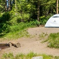 Tower Fall is a great campground for tent campers.- Tower Fall Campground